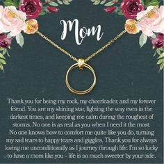 Shop a great selection of Dear Ava Mom Gift Necklace: Mother Daughter Jewelry, Thank You Mom, 2 Linked Circles. Find new offer and Similar products for Dear Ava Mom Gift Necklace: Mother Daughter Jewelry, Thank You Mom, 2 Linked Circles. Mother Daughter Bracelets, Thank You Mom, New Grandma, Stamped Jewelry, Gifts For Mom, Diy Gifts, Parent Gifts, Diamond, Circles