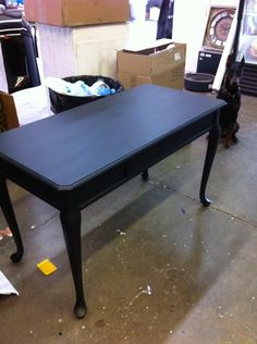 Hmm to paint my new French desk White...or Black...white is everywhere and this DOES look quite cool.