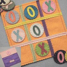 handmade tic tac toe?  I think yes!  perfect to entertain kids!