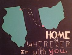 Home is wherever I'm with you. I made this gift as a going away present for my boyfriend. Hope he likes crafts! It's made with love :)