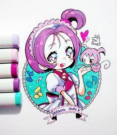 Onpu y Roro ^^)/ Me puse a ver Ojamajo Doremi, es un buen anime de magicals girls. Y aunque Onpu fue la causante de que las demás abandonaran ser brujas, es la más linda de las 5 :'D #ojamajodoremi