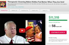 Only 56 hours left! Please help us go over $12,000. There are some GREAT perks left!! http://www.indiegogo.com/projects/therapeutic-clowning-makes-kiddos-feel-better-when-they-are-sick/x/4104546