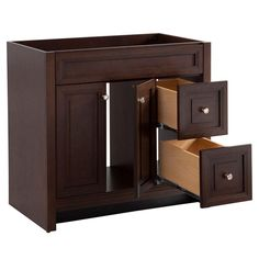 Glacier Bay Del Mar 36 in. W x 18-1/2 in. D Bath Vanity in ...