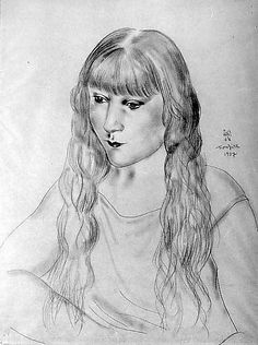 Foujita Tsuguharu, Portrait of a Girl, 1927