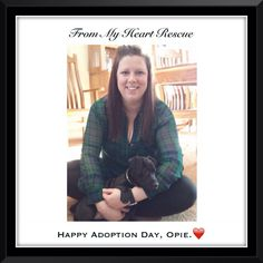#Please ❤️+ #PIN #FromMyHeartRescue #SavingOneDogAtaTime ~ #Happy #Adoption #Day #Opie ❤️  Thank you for your support.❤️ *Info, Foster, Adoption, e-transfer & PayPal: frommyheartrescue@hotmail.com    *Our Vets: Brock St. Animal Hospital/FMHR 905-430-2644   *Fundraising & Volunteering: FMHRfundraising@hotmail.com     *Gift Basket Donations: FMHRgifts@hotmail.com   ~www.frommyheartrescue.com        *Find us on Petfinder, Youtube, FB, Twitter, Instagram & Google+