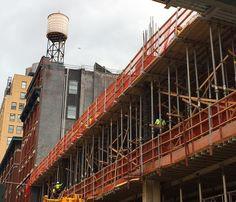 Construction New York style.   #safety #concrete #cranes steel #excavator #steel #towercrane #diggers #hardwork #hardhat #earthworks #cat #machine #bucket #soil #concrete #towercrane #crane #construction #constructionworker #lighting #cloudy #dozer #art #scaffolding #engineering #highrise #architecture #tallbuildings #cranes #scaffold  #ironworker #nyc