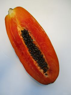 Eating papaya and ap