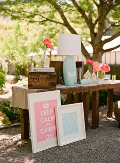 """For some reason, I think this would be a great way to set up your yard sale items...group like items, make them look a little """"fancier""""...people would be more attracted to your sale, & would probably buy & pay more. I love the idea of making it look a little more boutique-y....Just make sure every item is priced/marked clearly, especially pieces that are not for sale, like a table holding items, etc. Always have an outlet for items that need to be plugged in too..."""