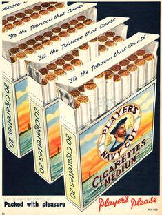 1954 Player's Navy Cut Cigarettes via Retrofair...