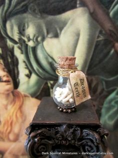 Dragon Teeth potion bottle dollhouse miniature in by DarkSquirrel, $12.00