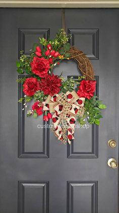 Valentine's WreathRed Roses WreathYear Round