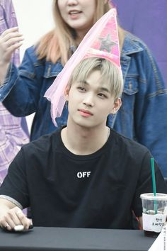 Hyunsik - Why?? Why do fans give idols this stupid shit to wear.. WHY??!  They're grown-ass freaking MEN! Seriously..  Can you not just tell by the looks on their faces? It's just so stupid..