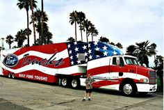 Ford American Flag truck..