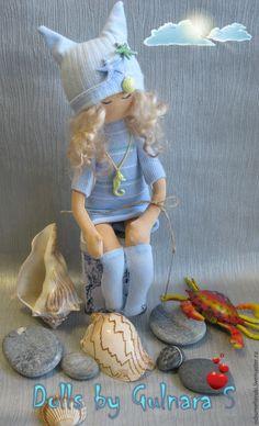 Купить Текстильная каркасная кукла. Тильда - голубой, романтика, коллекционная кукла, тильда, подарок для женщины