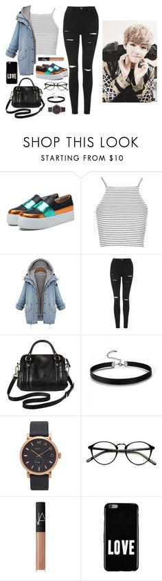 """""""Hanging out with V"""" by got7outfits ❤ liked on Polyvore featuring Chicnova Fashion, Topshop, Merona, Marc Jacobs, NARS Cosmetics and Givenchy"""