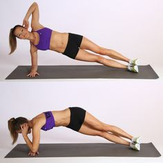 Exercises to Tone Muffin Top: Side Plank Variations | POPSUGAR Fitness