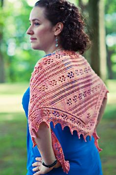 Magnolia Shawl By Marjorie Dussaud - Purchased Knitted Pattern - (ravelry)