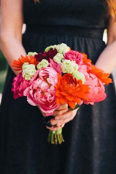 Peony and rose bridesmaid #bouquet | @corbin | Brides.com