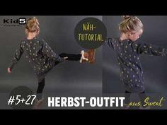Herbstoutfit aus Kuschelsweat ganz einfach selber Nähen DIY-Näh-Tutorial - YouTube