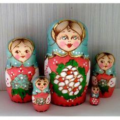 Olesya woodburnt #Babushka #russiandoll #matryoshka #dollsindolls #decor #traditional
