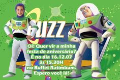 Convite digital personalizado Buzz Lightear Toy Story com foto 006