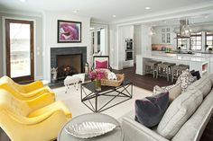 Benjamin Moore - Apparition - Lakeside Living - transitional - Living Room - Minneapolis - REFINED LLC
