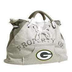 "Green Bay Packers Property of Hoody Tote by Little Earth. $50.95. L 24.5"" W 7"" H 15.25. Please Note: This item is made-upon-order, therefore requires additional processing time, which is reflected in the estimate above. Pro-FAN-ity by Littlearth offers you the authentic feel of your favorite sweatshirt in their Officially Licensed Hoodie Tote. These purses take the authentic look and feel of your favorite team sweatshirt and craft them into purses that will gi..."