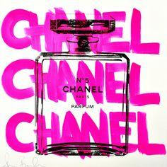 Chanel Chanel Chanel|Shane Bowden|シェーンボーデンの代表作で一番人気のある作品。ハンドペイントのPink CHANELが特徴的な作品。