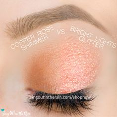 Bright Lights Shimmer and Copper Rose Shimmer ShadowSense side by side comparison.  These long-lasting SeneGence eyeshadows help create envious eye looks.  #eyeshadow #shadowsense Natural Eyeshadow Looks, Natural Makeup, Winter Makeup, Spring Makeup, Cosplay Makeup, Costume Makeup, Makeup Tips, Makeup Ideas, Eye Makeup