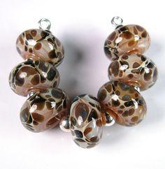 Mossy Pebbles BBGLASSART Lampwork Boro Beads by bbglassart