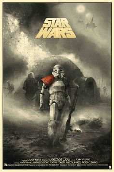 Star Wars: Episode IV - A New Hope by Karl Fitzgerald - Home of the Alternative Movie Poster -AMP- Star Wars Fan Art, Star Wars Episódio Iv, Film Star Wars, Star Wars Poster, Images Star Wars, Star Wars Pictures, Poster Series, Movie Poster Art, Sith