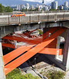 city fabric installation rebecca bayer matthew soules vancouver BC designboom