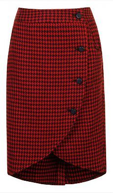 Loving this Alice's Pig Red & Black Houndstooth Wendy's Wrap Skirt on Casual Dress Outfits, Casual Skirts, Skirt Outfits, Dress Skirt, Moda Do Momento, Trendy Fashion, Womens Fashion, Fashion Kids, Cute Skirts