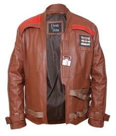 F&H Boy's Star Wars The Force Awakens Finn John Boyega Jacket M Brown. Premium Quality Synthetic Leather. Polyester + Satin Lining with 2 Inside Pockets. Metal Accents. 30 Day Returns & Exchange, 100% Money Back Guarantee. International buyers may be required to pay import duties as levied by their government.