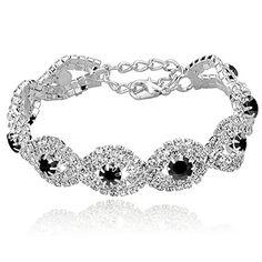 Long Way® Women's Silver Plated Rhinestone Bracelets (Black) Long Way http://www.amazon.com/dp/B011TGY5TU/ref=cm_sw_r_pi_dp_PW..wb0FENQPB