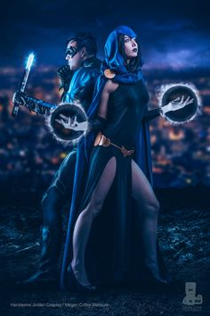 #Cosplay Teen Titans - #Raven and #Nightwing by truefd on DeviantArt