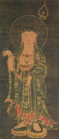ksitigarbha | Description  Bodhisvistta Ksitigarbha, jizo, Nezu Museum)