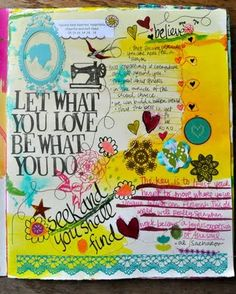 loving this art journal page by Amy Tangerine :)