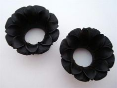 black areng wood Blooming Lotus Flower plugs - another set of tunnels that makes me wish I still had my ears stretched. Ear Tunnels, Tunnels And Plugs, Double Cartilage Piercing, Ear Piercings, Peircings, Ear Jewelry, Body Jewelry, Jewlery, Organic Plugs