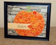 Glue Dots Kids Craft - Button Pumpkin
