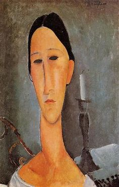 Portrait Of Anna Zborowska 1919 Canvas Print / Canvas Art by Modigliani Amedeo Amedeo Modigliani, Modigliani Paintings, Paul Cezanne, Italian Painters, Italian Artist, Claude Monet, Illustration Art, Illustrations, Art Moderne