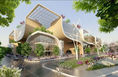 "Gallery - Vincent Callebaut Proposes ""Wooden Orchids"" Green Shopping Center for China - 7"