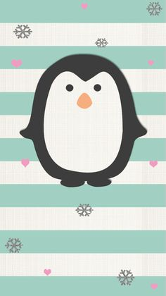 Penguin ★ Find more Winter Wonderland iPhone + Android at… Winter Wallpaper, Holiday Wallpaper, Cool Wallpaper, Mobile Wallpaper, Pattern Wallpaper, Iphone Wallpaper Christmas, Snowflake Wallpaper, Aztec Wallpaper, Pink Wallpaper