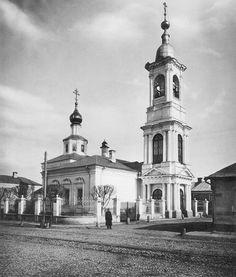 Москва. Церковь Николы в Плотниках, на Арбате. 1882 год