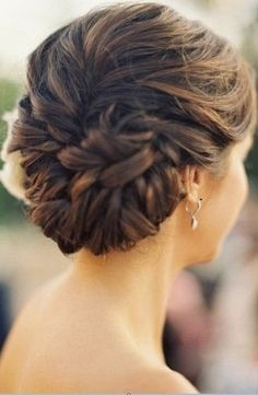 My mom had a fish tail braid in her hair for her wedding and I have always loved it, this reminds me of it.