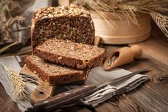 Add sprouted grains to baked goods for extra protein, vitamins, and minerals without excess calories. Denser and sweeter than bread made with unsprouted grain, sprouted-grain bread is also loaded with phytonutrients. Homemade Rye Bread, Rye Bread Recipes, How To Make Homemade, How To Make Bread, Bread Making, What Is Rye Bread, Foods That Contain Gluten, Sprouted Grain Bread, Tapas