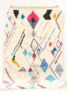 They can also be hung on walls. Authentic vintage rugs that make a warm statement. 4x6 Rugs, Moroccan Berber Rug, Square Rugs, Rug Sale, White Rug, Deco, Handmade Rugs, Rugs On Carpet, Wool Rug