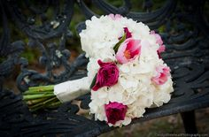Hydrangea and Pink tulip bouquet