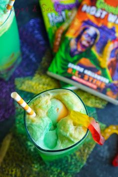 Goosebumps Halloween Punch This non-alcoholic punch—complete with gummy worms—is perfect for kids.