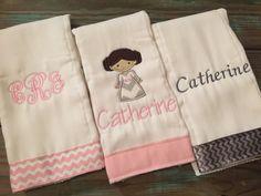 Star Wars burp cloths for a little girl!